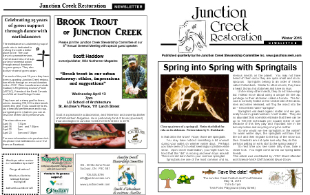 2016 Junction Creek Spring Newsletter