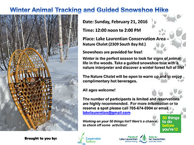 animal tracking 2016 poster - Conservation Sudbury