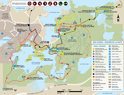 Lake-Laurentian Conservation Area Trail map