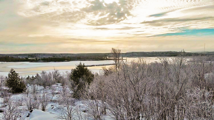 Winter view - Lake Laurentian Conservation Area - Conservation Sudbury